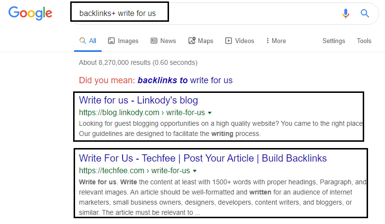 Guest post oppotunites for backlinks