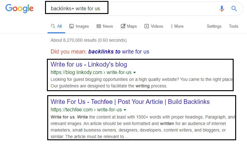 Guest post oppotunites for backlinks