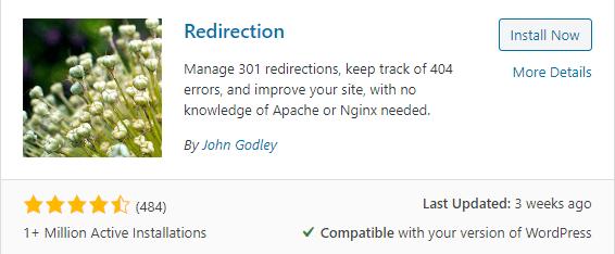Redirection wordpress plugin for wordpress