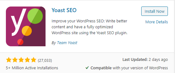 Yoast SEO best SEO plugin