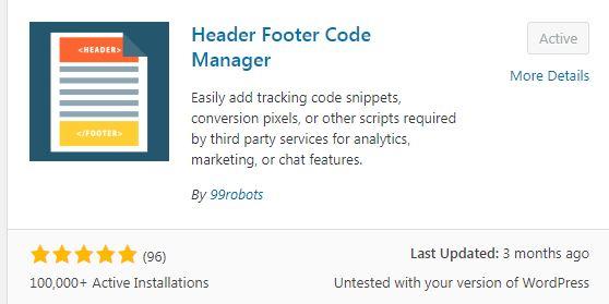 Header footer code manager plugin wordpress