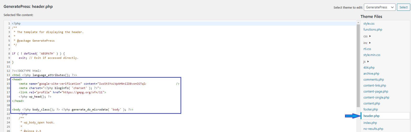 How to add adsense code to wordpress header