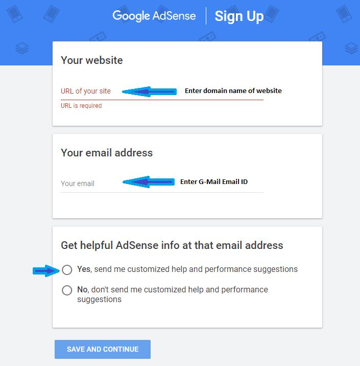 How to create an account with Google adsense