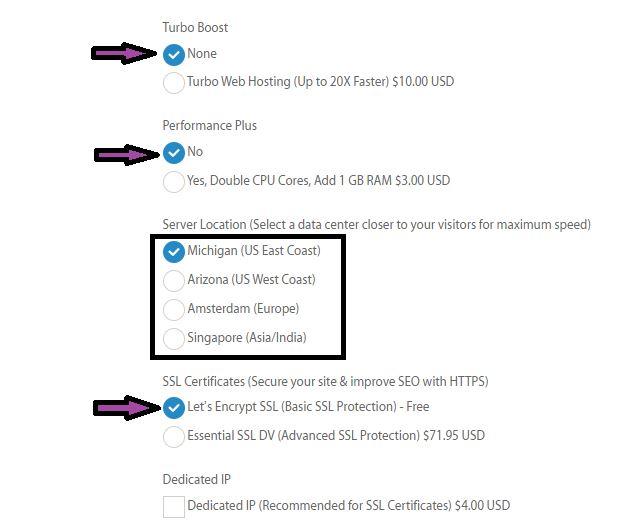 Server locations for A2 hosting