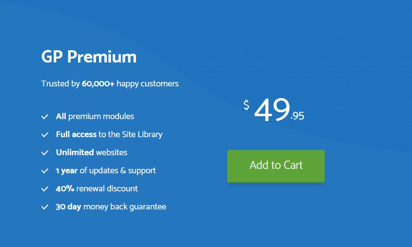 Generatepress Premium pricing