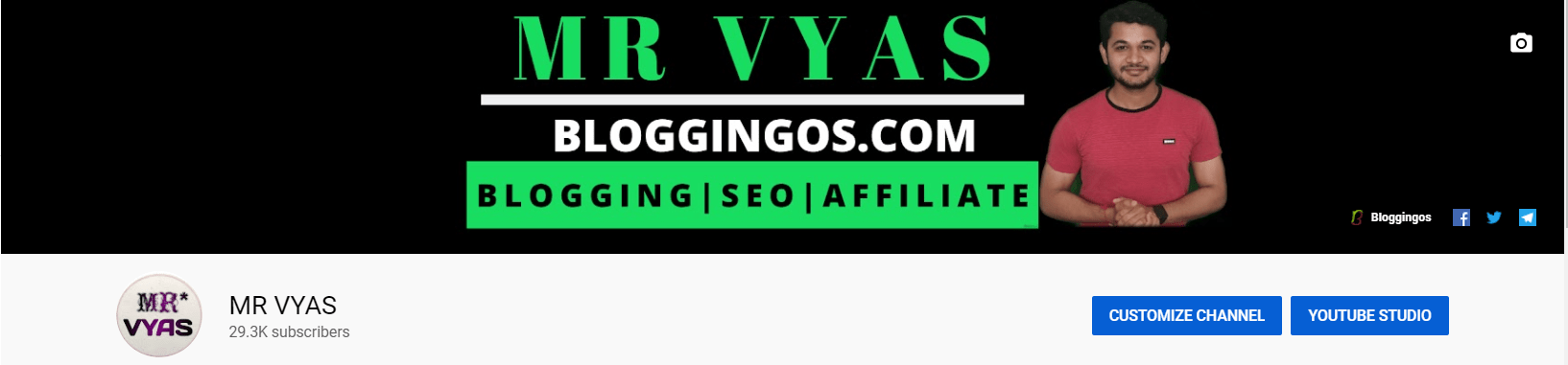 Mr Vyas Bloggingos Youtube Channel