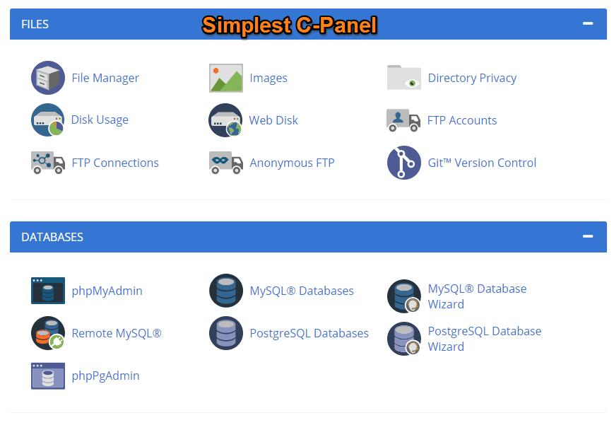 BLUEHOST C-panel