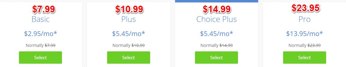 Bluehost Renewal Pricing Plan