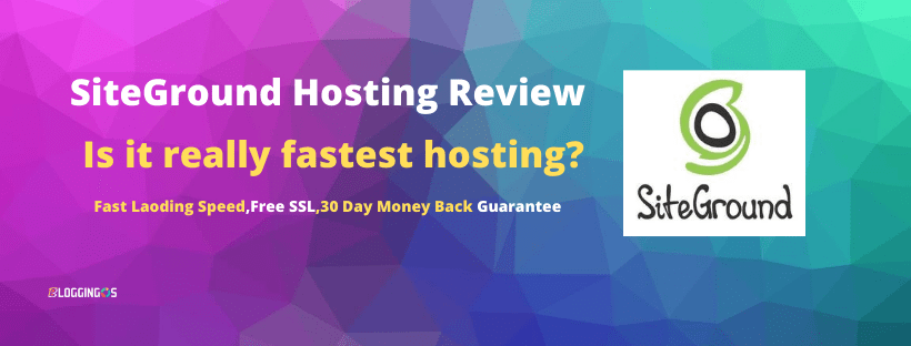 Siteground hosting review is it really fast hosting