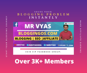Mr Vyas Bloggingos Facebook Group