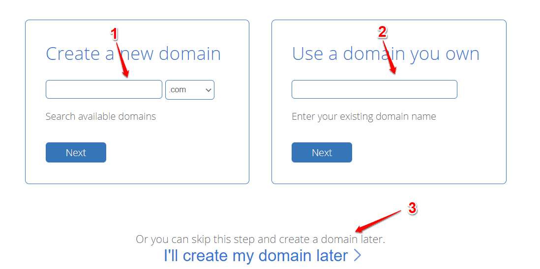Free Domain provided by BlueHost Hosting