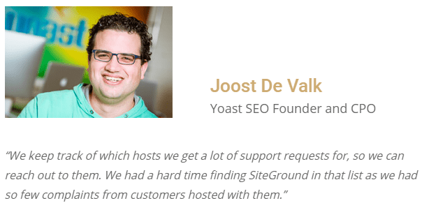 Yoast SEO Founder and CPO on SiteGround hosting review