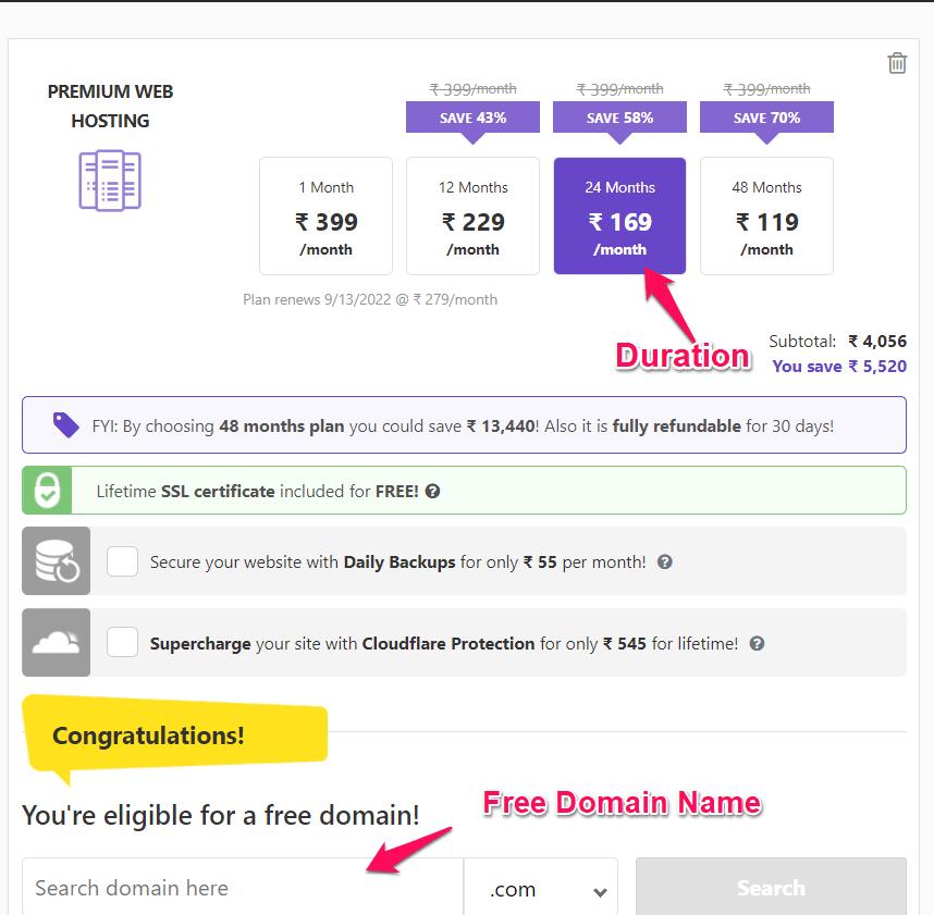 Hostinger Premium hosting buy