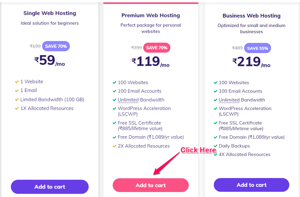 How to buy Hostinger Premium Hosting plan