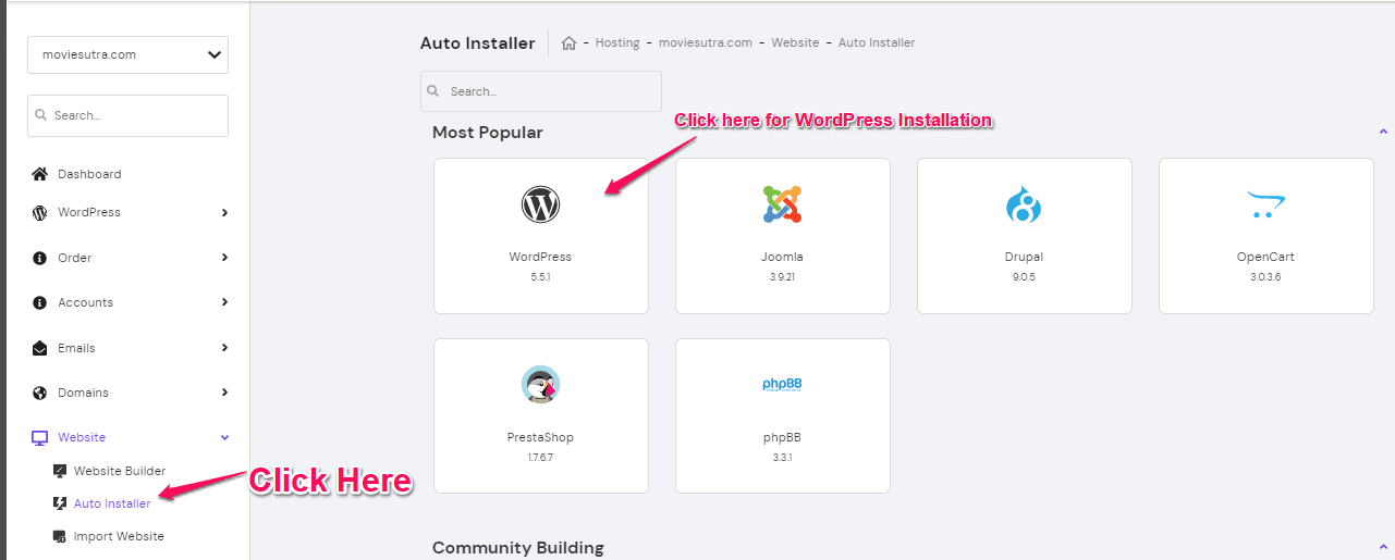 How to install wordpress with Hostinger Web Hosting