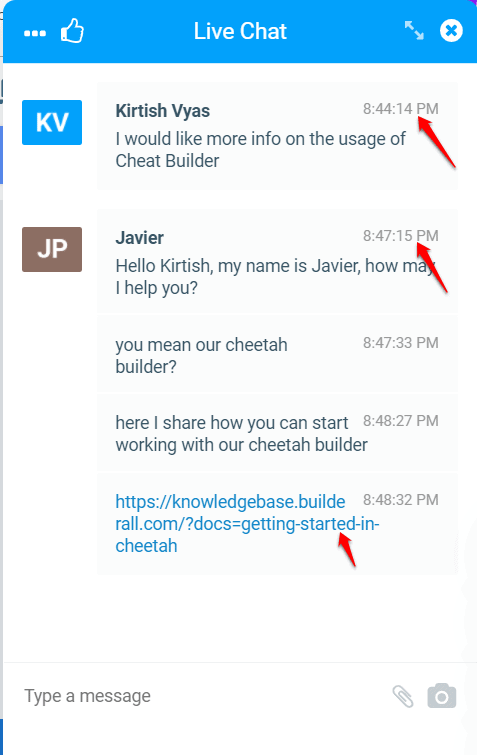 Live Chat support Builderall