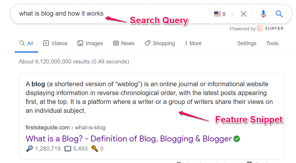 What is feature snippet