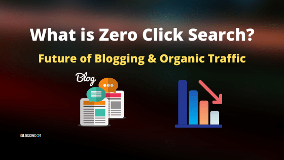 What is Zero Click Search and Impact on Blogging and SEO Traffic?